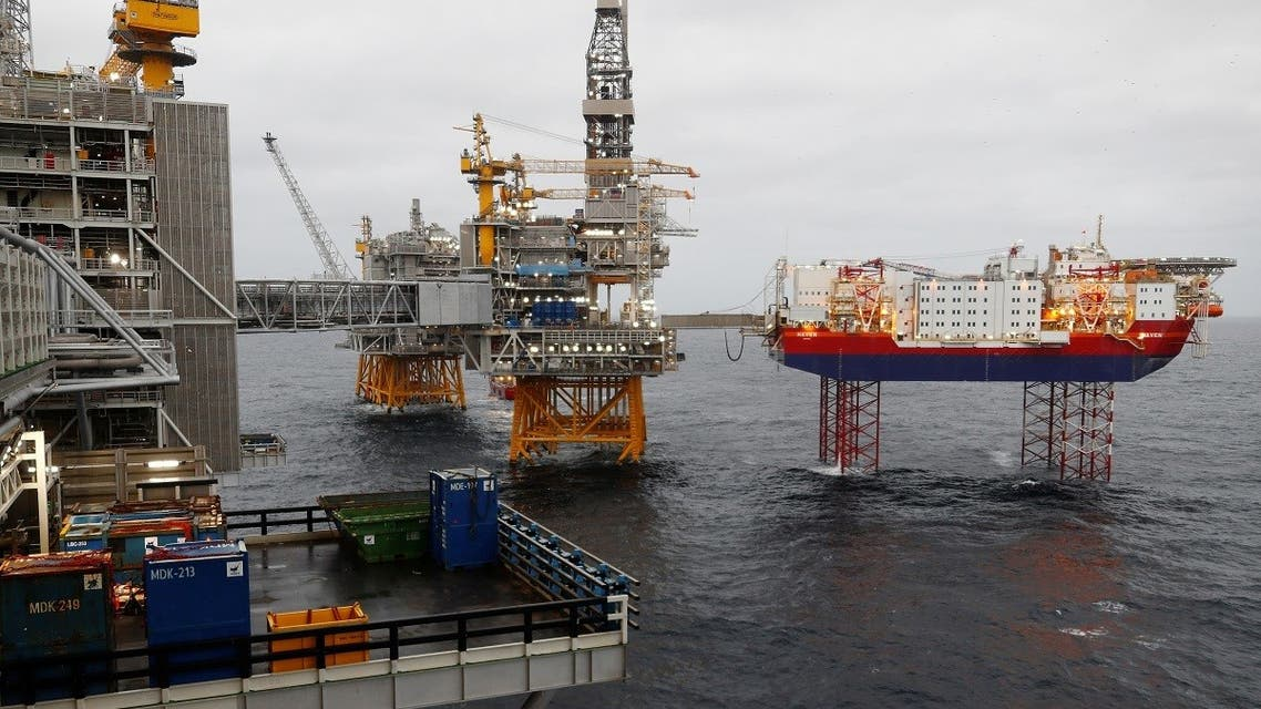 Equinor's Johan Sverdrup oilfield platforms and accommodation jack-up rig Haven are pictured in the North Sea, Norway. (File photo: Reuters)