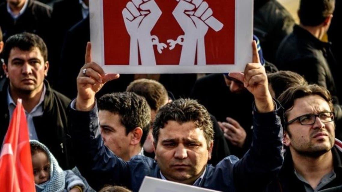 تظاهرات في تركيا تطالب بحرية للصحافة