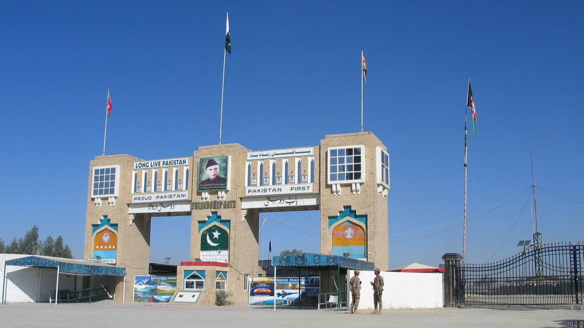 The Friendship Gate crossing point at the Pakistan-Afghanistan border town of Chaman, Pakistan on March 2, 2020. (Reuters)