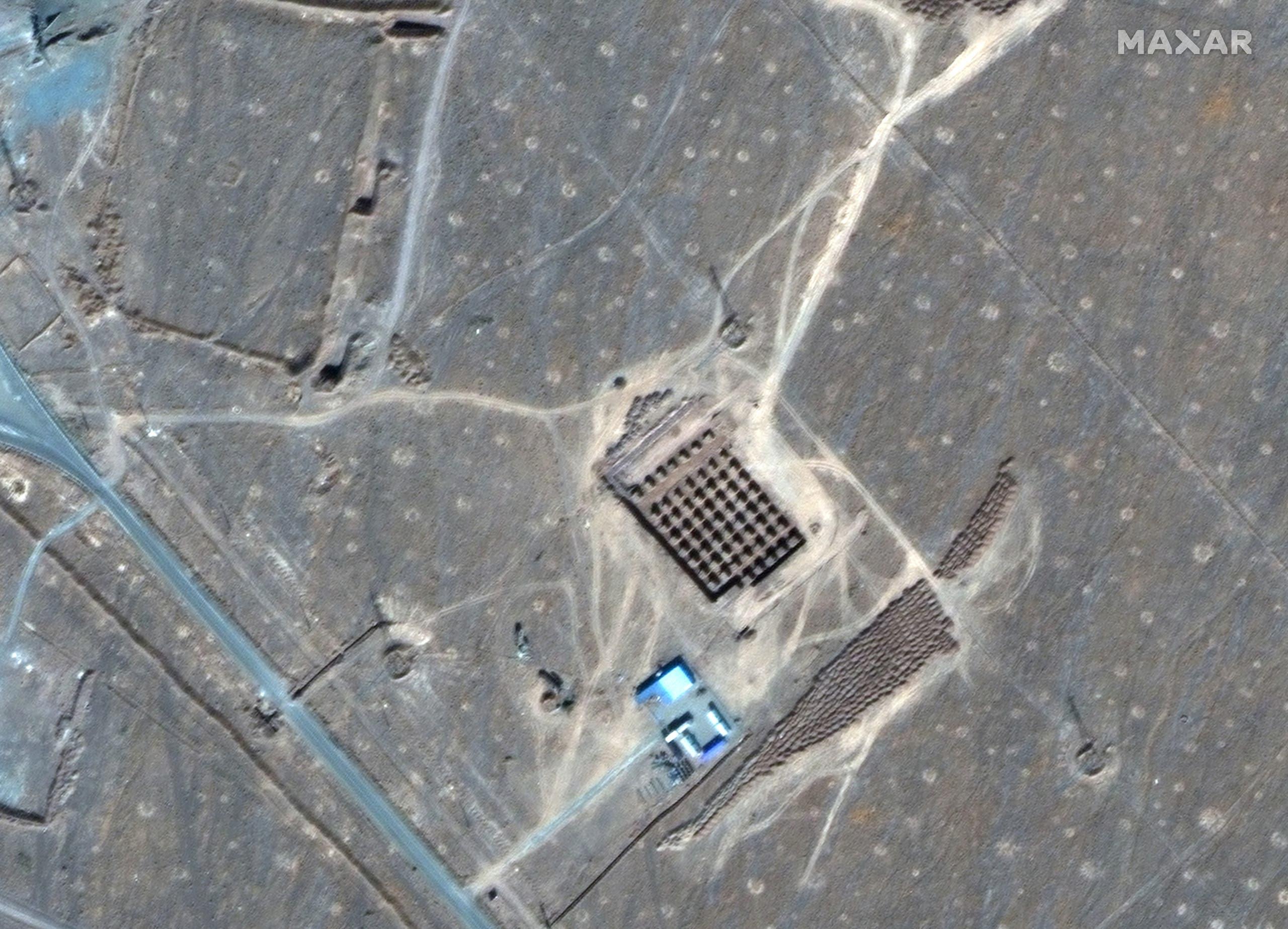 تصویر ماهواره ای از سایت هسته ای فوردو در ایران (خبرگزاری فرانسه)
