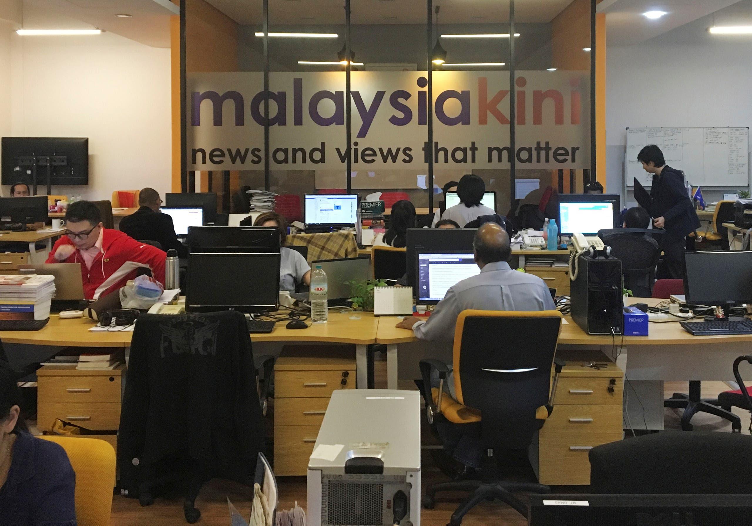 A general view of Malaysiakini's newsroom in Kuala Lumpur, Malaysia May 24, 2018. (File photo: Reuters)