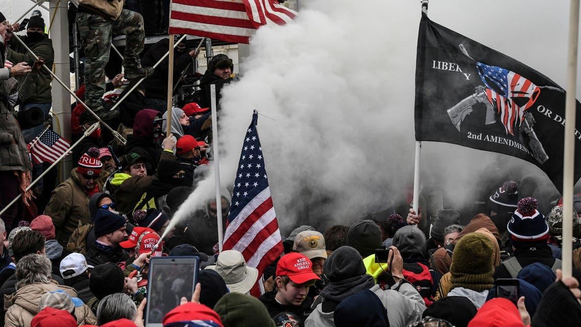 أنصار ترمب أمام الكابيتول في واشنطن (أرشيفية- رويترز)