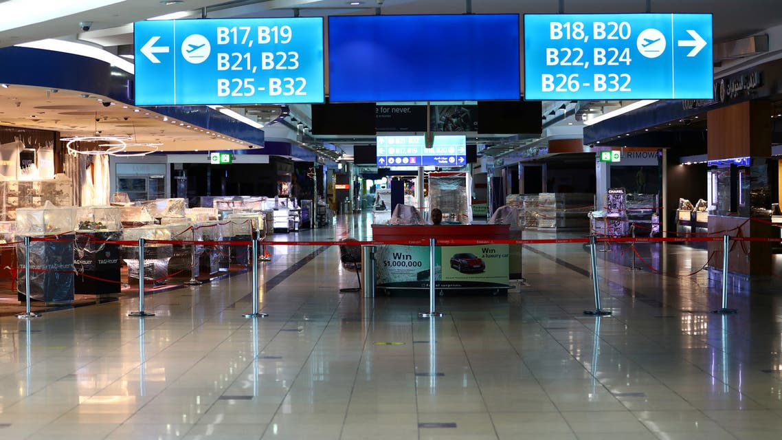 General view of Dubai duty free closed shops at Dubai International Airport, as Emirates airline resumed limited outbound passenger flights amid outbreak of COVID-19 in Dubai, UAE April 27, 2020. (File photo: Reuters)