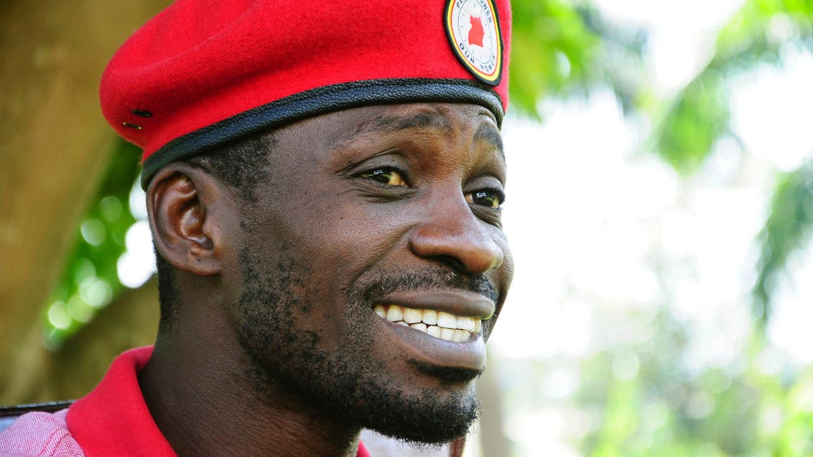 Pop star-turned-opposition lawmaker Bobi Wine in Magere, Kampala, Uganda. (AP)