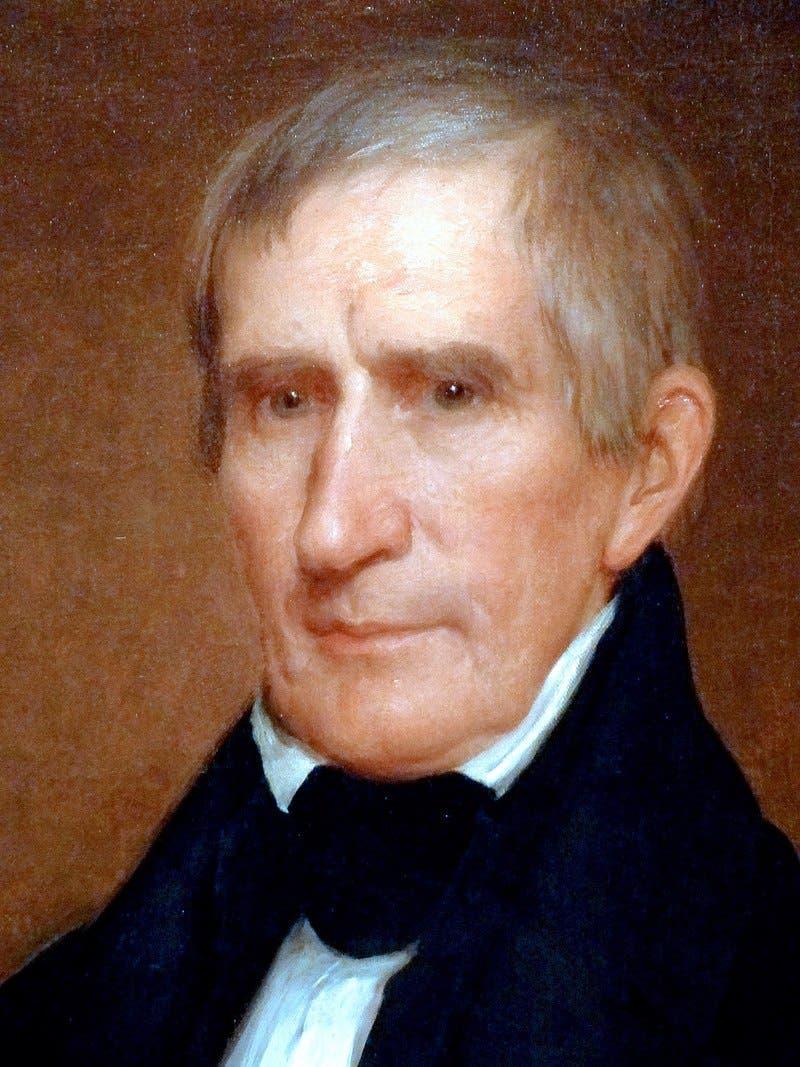 صورة للرئيس المتوفى وليام هنري هاريسون