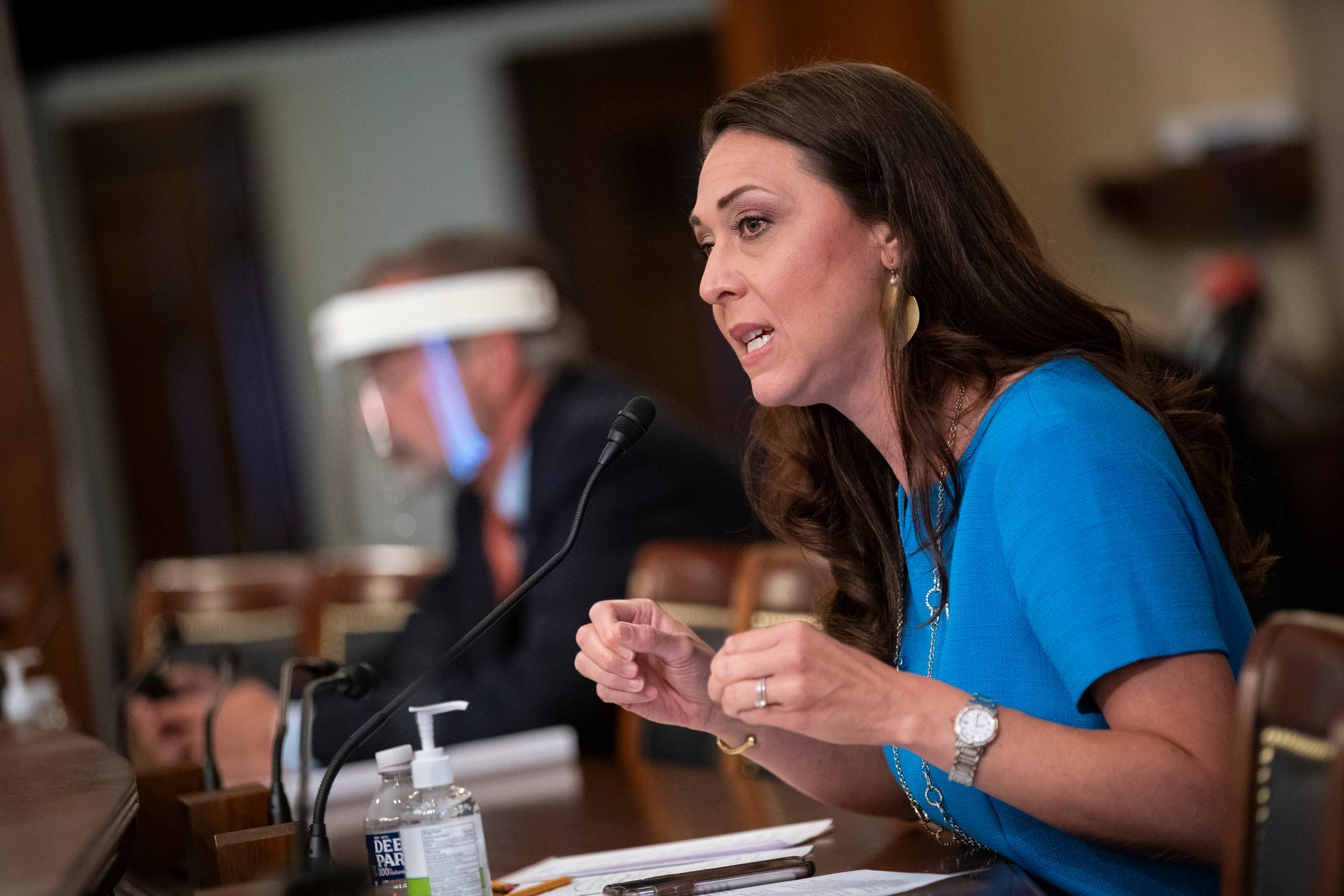 Rep. Jaime Herrera Beutler, R-Wash., speaks during a Labor, Health and Human Services, Education, and Related Agencies Appropriations Subcommittee hearing about the COVID-19 response on Capitol Hill. (AP)
