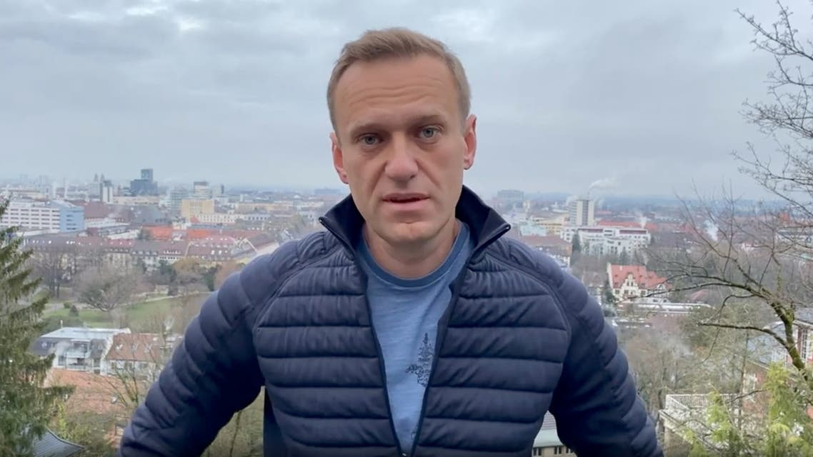 Russian opposition politician Alexei Navalny is seen in a still image from video in Germany, in this undated image obtained from social media January 13, 2021. Courtesy of Instagram @NAVALNY/Social Media via REUTERS ATTENTION EDITORS - THIS IMAGE HAS BEEN SUPPLIED BY A THIRD PARTY. MANDATORY CREDIT INSTAGRAM @NAVALNY. NO RESALES. NO ARCHIVES.