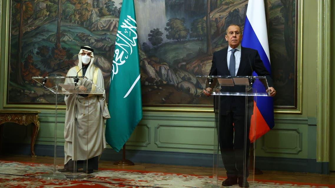 وزيرا خارجية السعودية فيصل بن فرحان وروسيا سيرغي لافروف 2