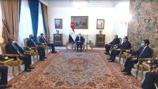 السيسي يبحث مع وفد السودان التوتر مع إثيوبيا وملف سد النهضة