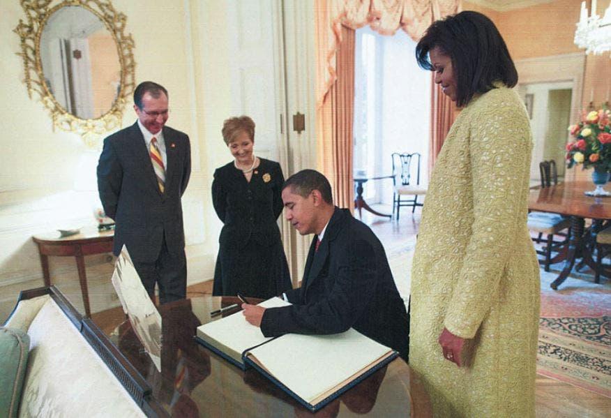 باراك أوباما من داخل بلير هاوس