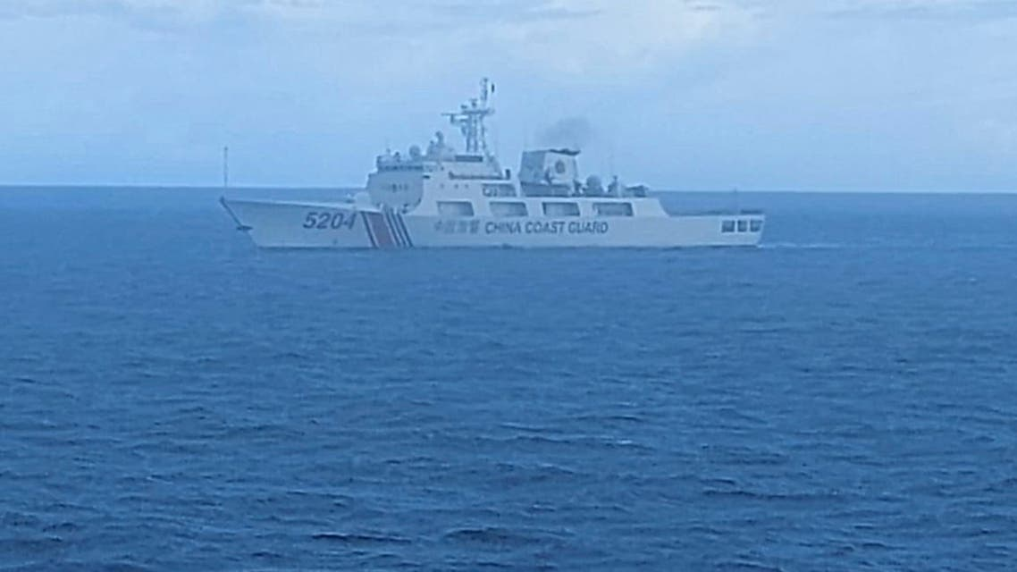 This undated file photo released on Tuesday, Sept. 15, 2020, by Indonesian Maritime Security Agency (BAKAMLA) shows a Chinese Cost Guard ship sails in North Natuna Sea. (File photo: Indonesian Maritime Security Agency via AP)