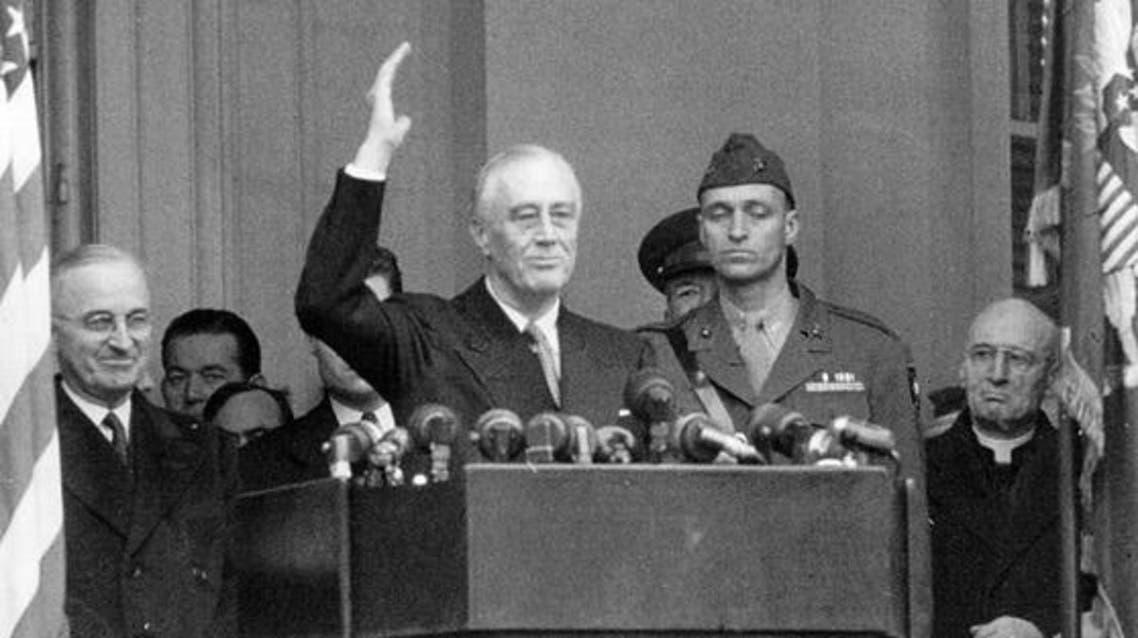 روزفلت أثناء خطاب تنصيبه