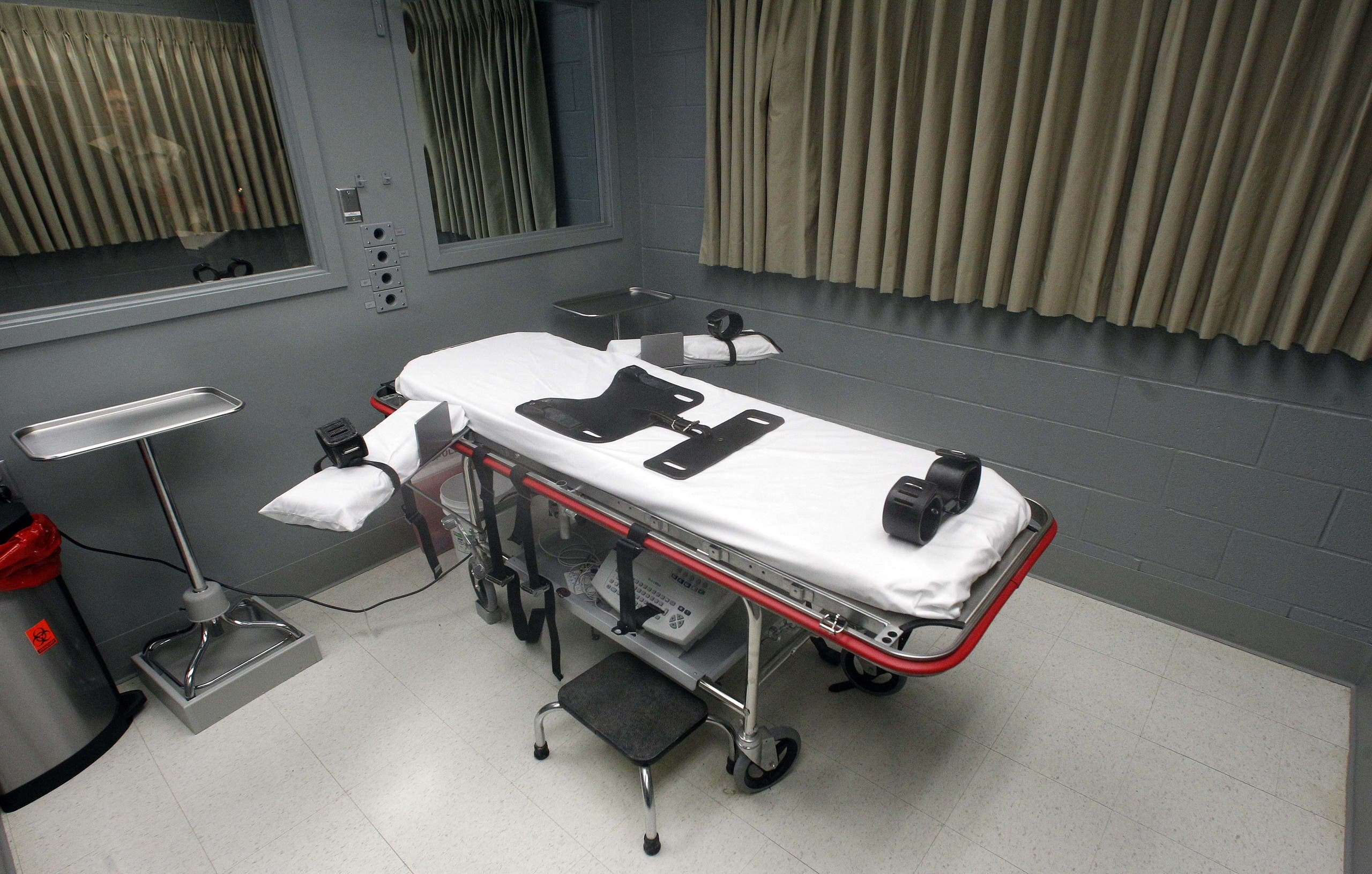 The execution room at the Oregon State Penitentiary, in Salem, Ore. (File photo: AP)