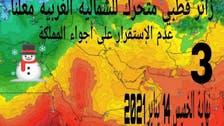 سعودی عرب میں 10 دن تک سردی کی شدید لہر کی وارننگ