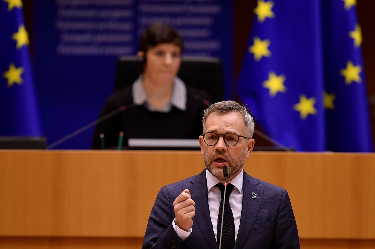 Minister of State for Europe at the German Federal Foreign Office Michael Roth gives a speech about the preparation of an EU Strategy on vaccination against the coronavirus at the European Parliament, in Brussels, Belgium, on December 16, 2020. (Reuters)