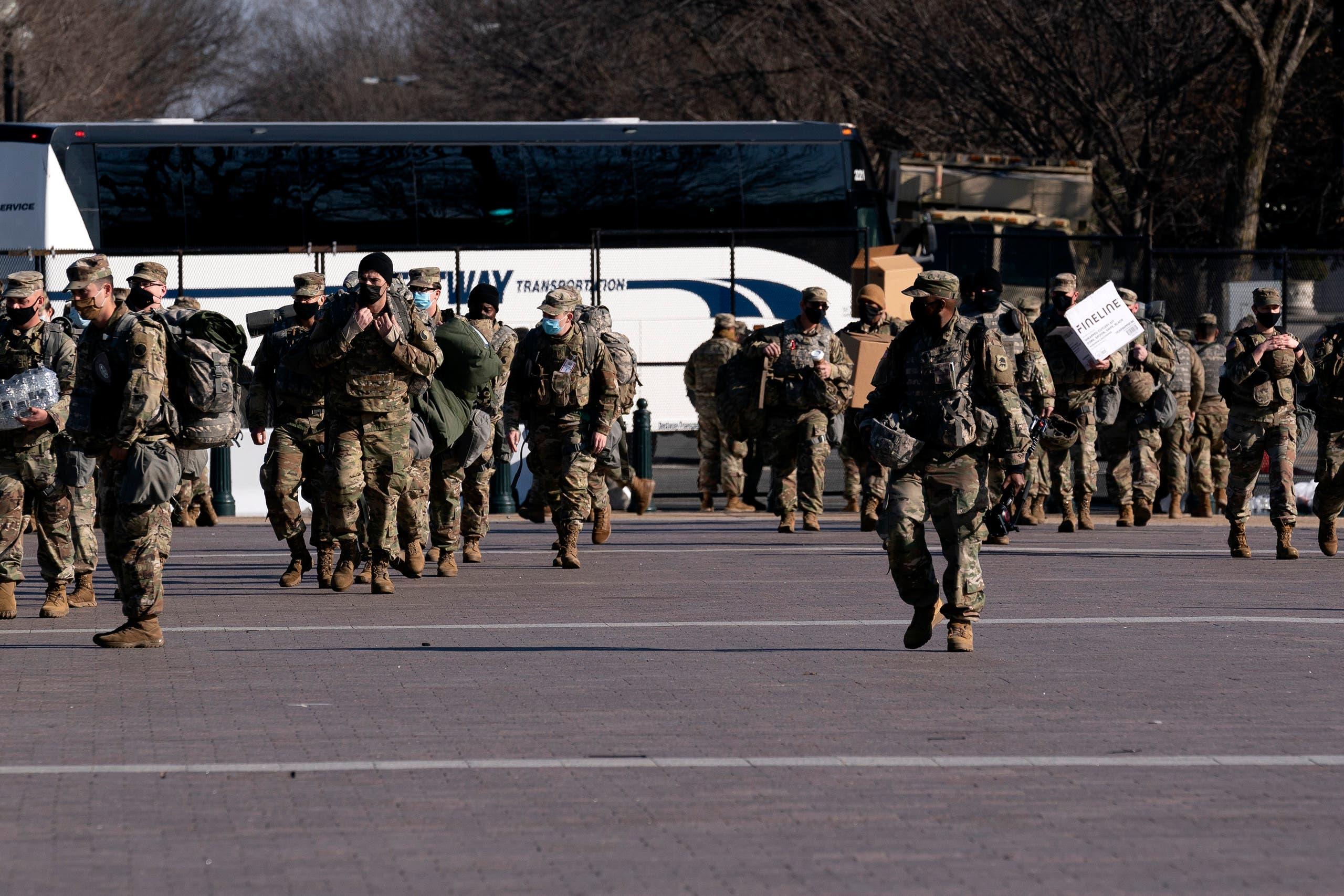 أفراد من الحرس الوطني الأميركي  في واشنطن