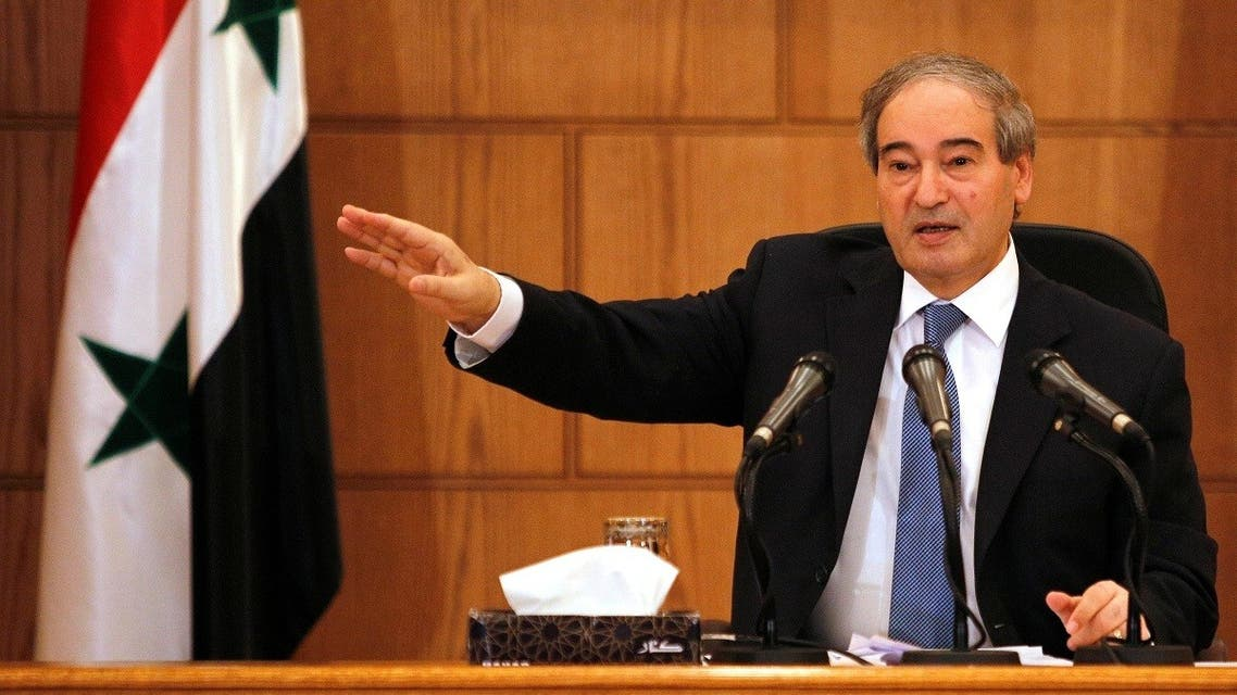 Faisal Mekdad gestures during a news conference in Damascus, Syria. (File photo: Reuters)