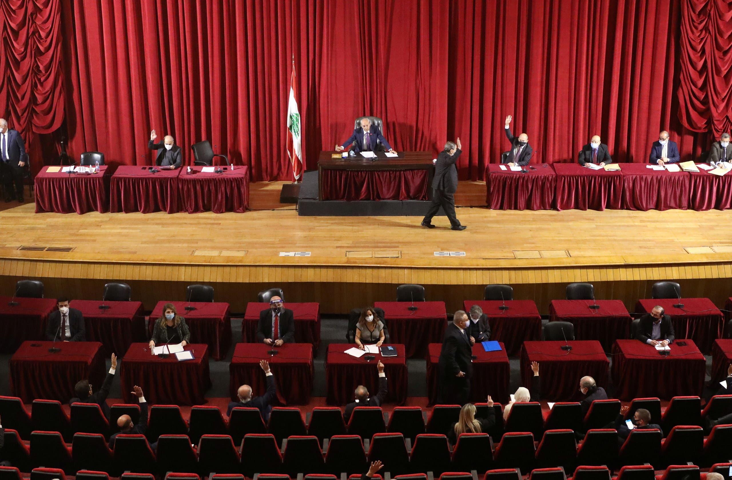 Lebanese Parliament Speaker Nabih Berri heads a legislative session in Beirut. (Reuters)