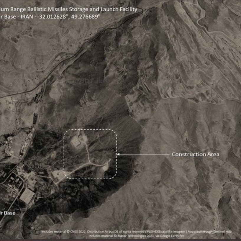 صور تظهر منصات إطلاق صواريخ بقاعدة عسكرية جنوب غرب إيران