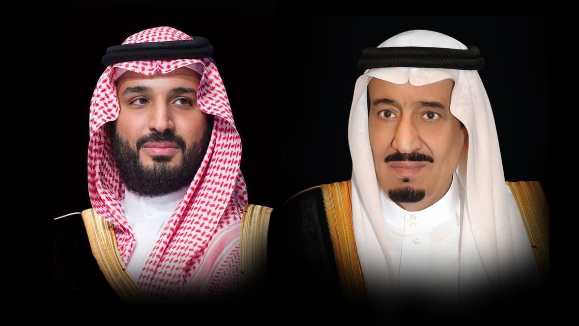 خادم الحرمين الشريفين الملك سلمان بن عبدالعزيز آل سعود، وولي العهد الأمير محمد بن سلمان