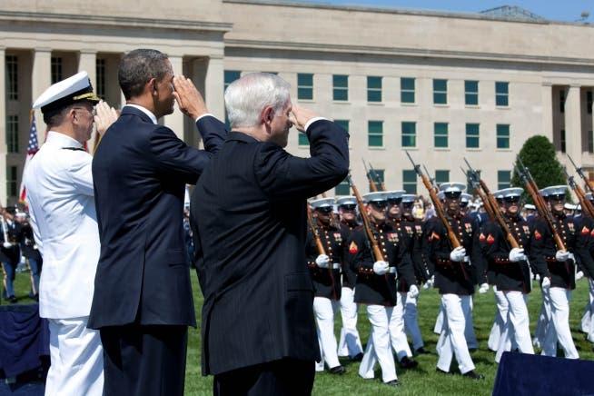 من حفل وداع أوباما في البنتاغون