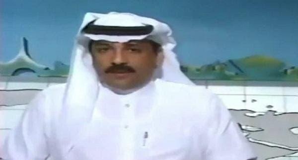 فهد الحمود خلال عمله كمذيع في التلفزيون السعودي