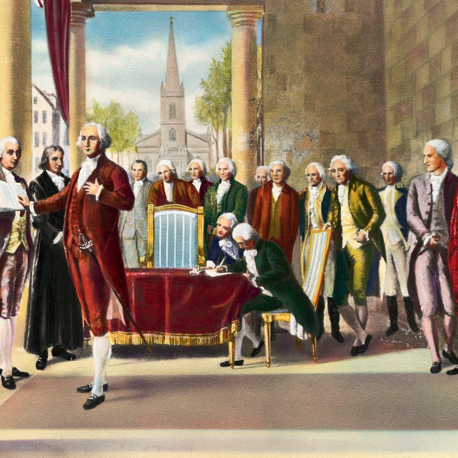 هكذا جرت مراسم تنصيب أول رئيس للولايات المتحدة
