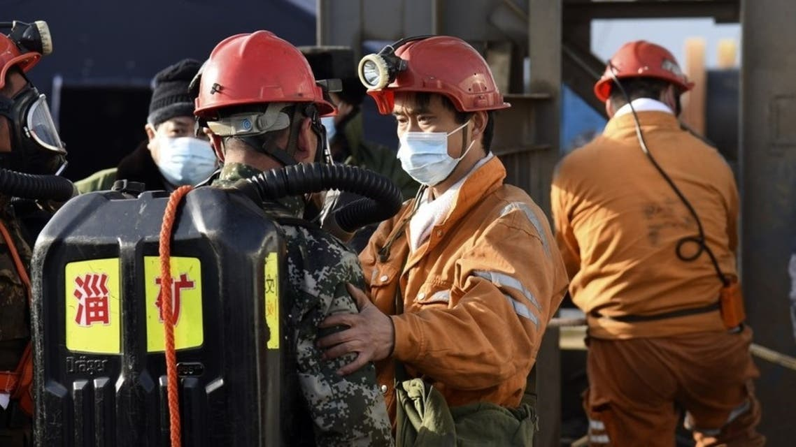 Rescuers detect signs of life from trapped workers seven days after a gold mine blast in Shandong, east China. (Twitter/@XHNews)
