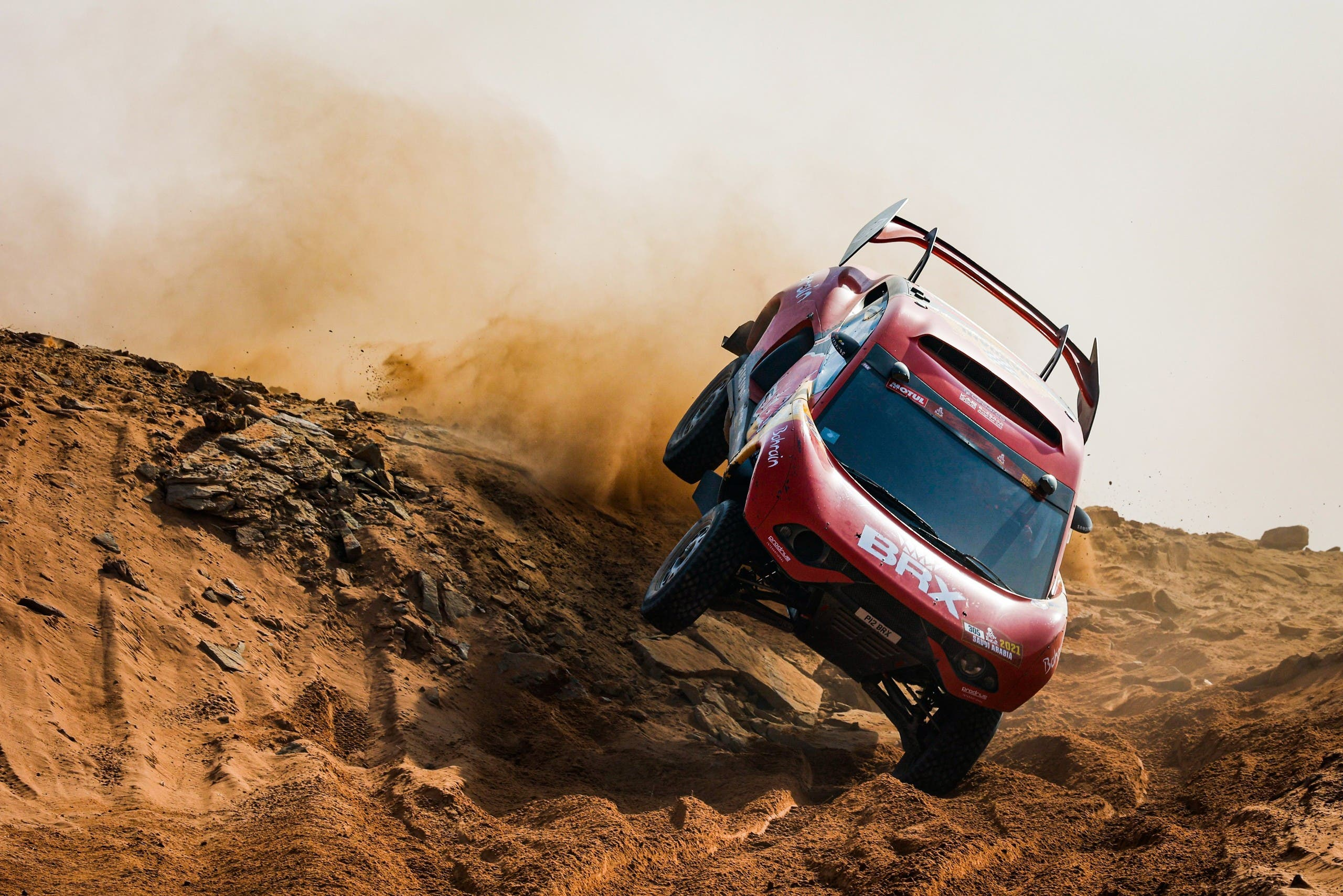 The Hunter powering cross country during the 2021 Dakar Rally. (Supplied)