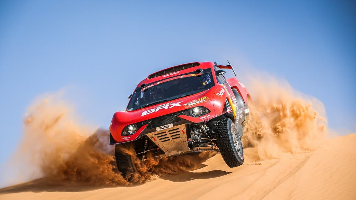 The Hunter developed by the Bahrain Raid Extreme (BRX) competing in the 2021 Dakar Rally (Supplied)