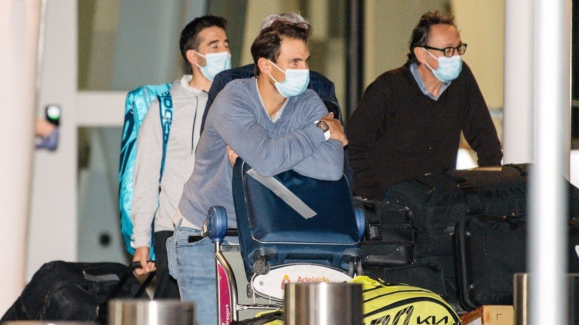 Rafael Nadal arrives at Adelaide Airport ahead of the Australian Open tennis tournament in Adelaide. (Reuters)