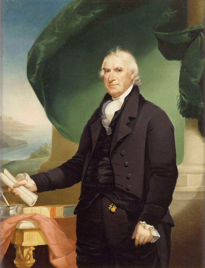 لوحة تجسد حاكم نيويورك جورج كلينتون