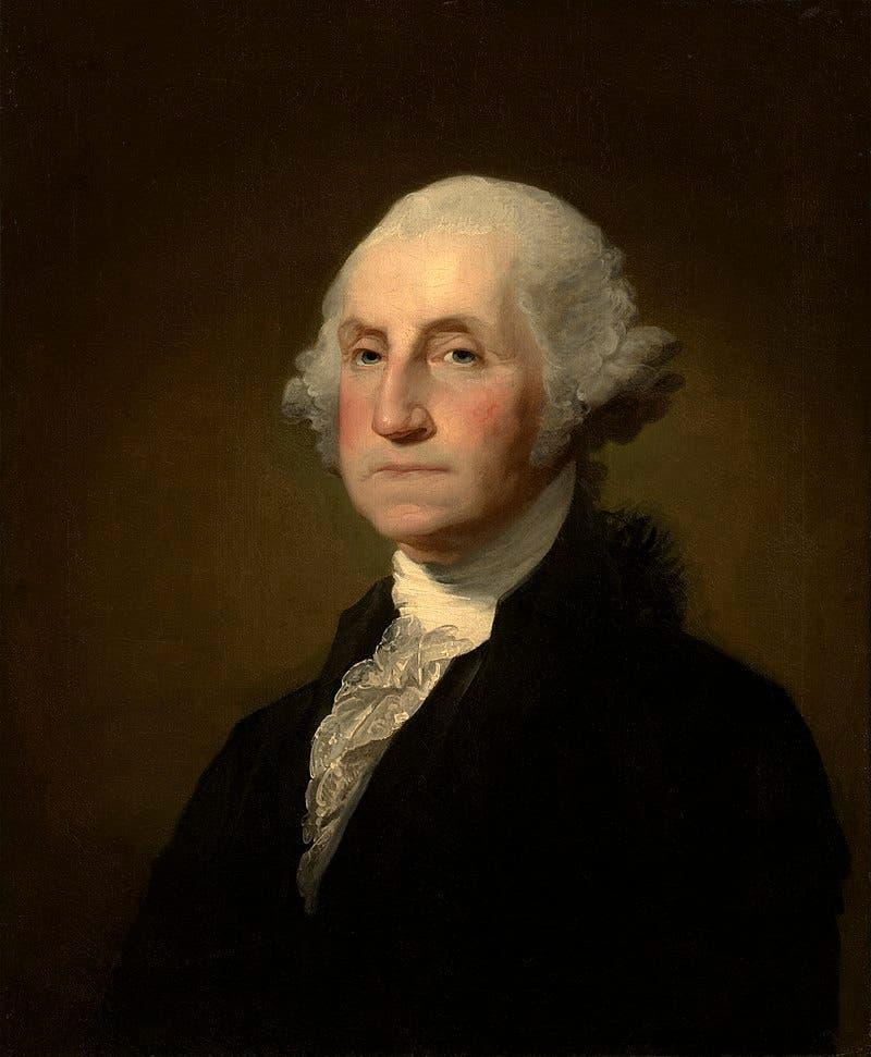 لوحة تجسد جورج واشنطن