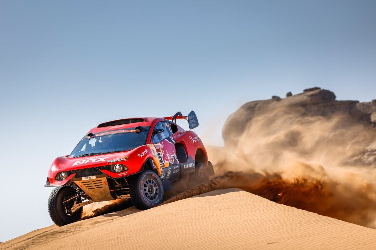 Sebastien Loeb tearing through the desert while competing in the Dakar Rally 2021. (Supplied)