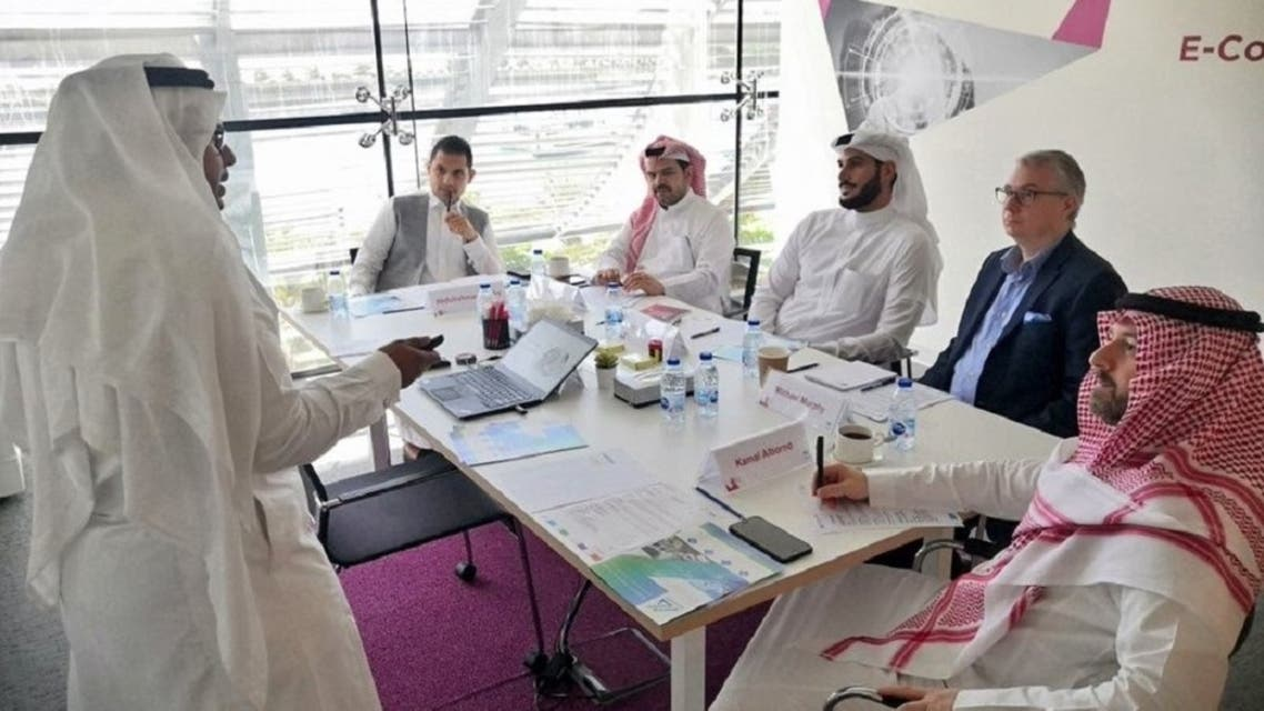 The judging round of the 4th edition MITEF Saudi Startup Competition held last year. (File photo)