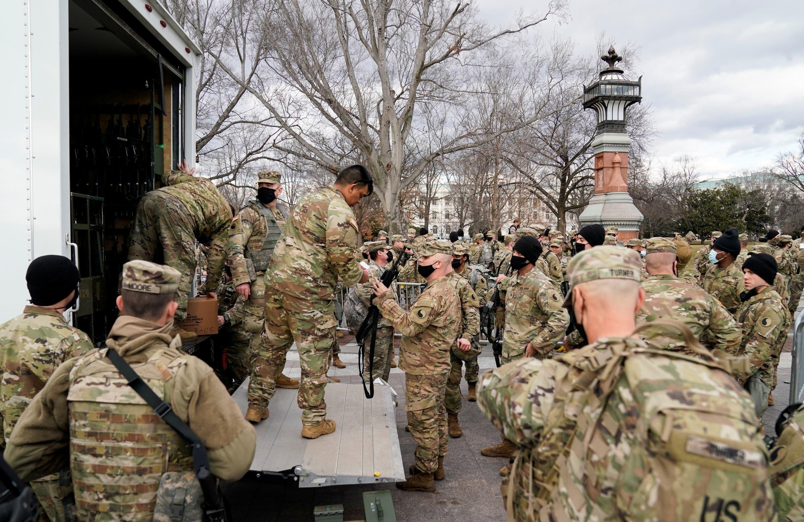 الحرس الوطني في واشنطن (أرشيفية رويترز )