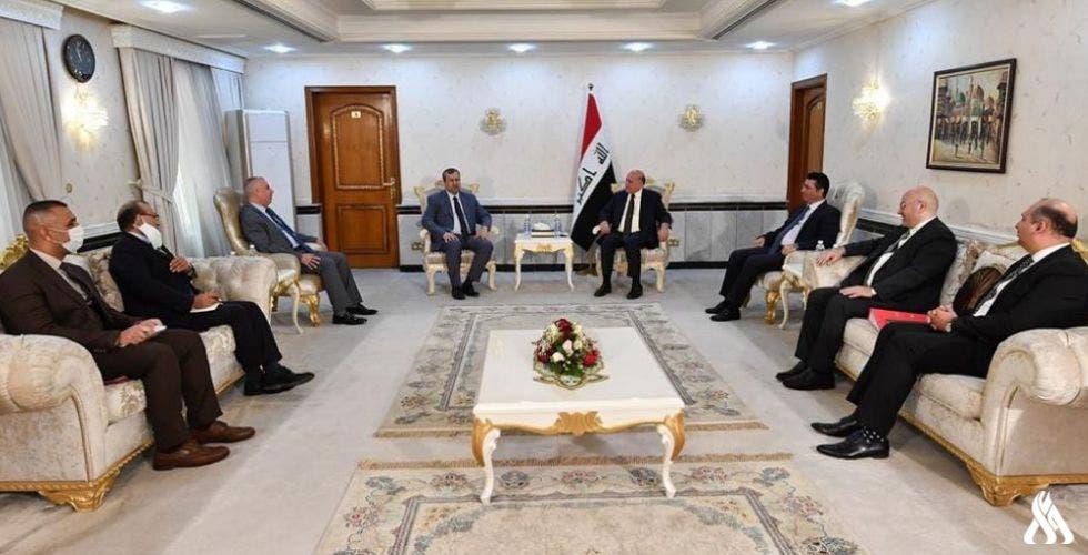 من الاجتماع في مبنى وزارة الخارجية العراقية