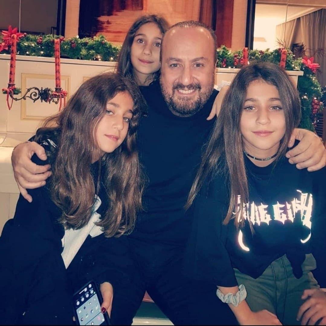 غسان الرحباني مع بناته