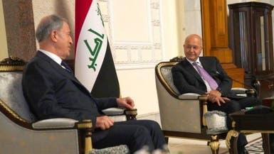 رئيس العراق لوزير دفاع تركيا: يجب احترام سيادة بلادنا