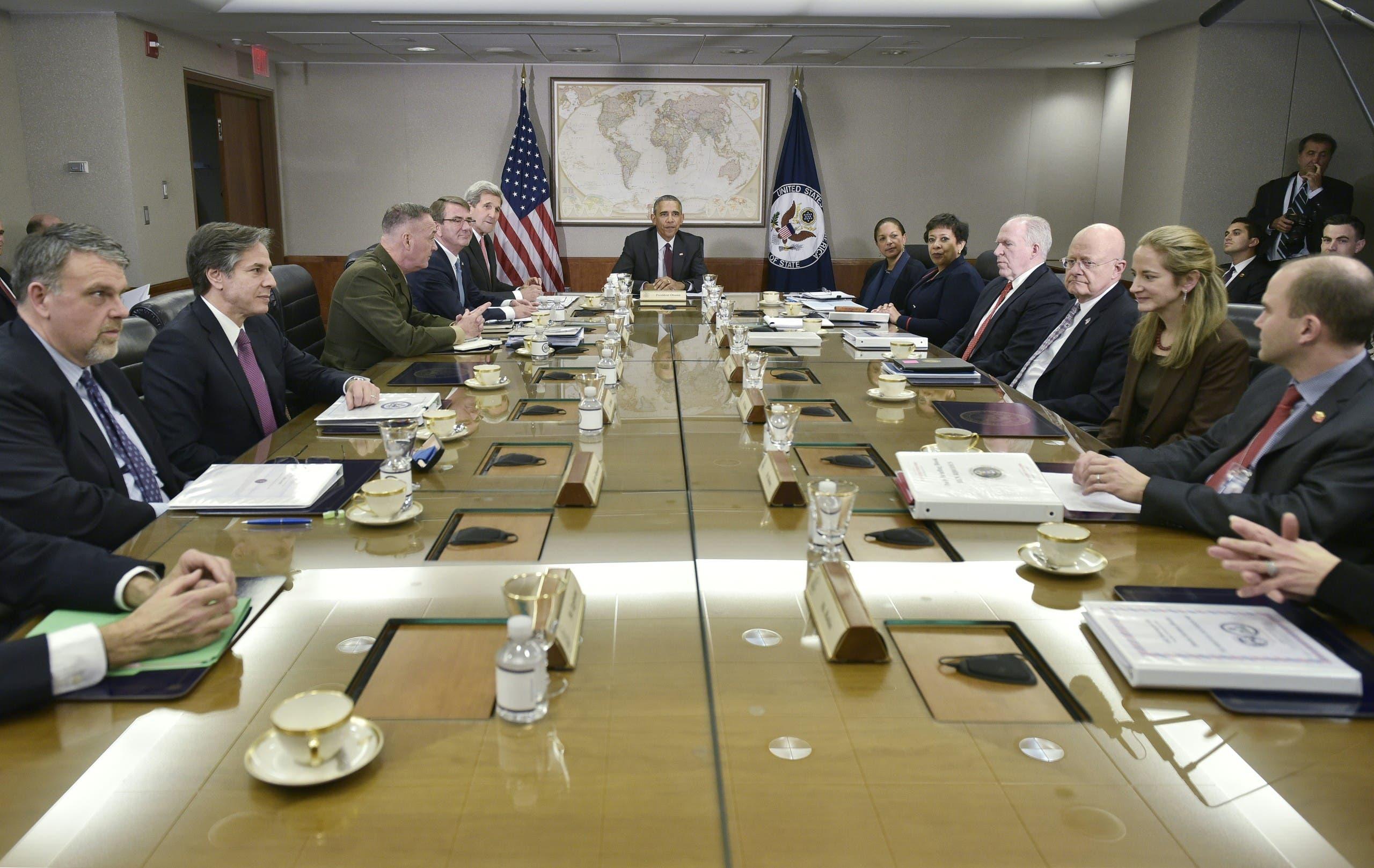 بلينكن يشارك في اجتماع حول الأمن الوطني في 2016 في عهد أوباما