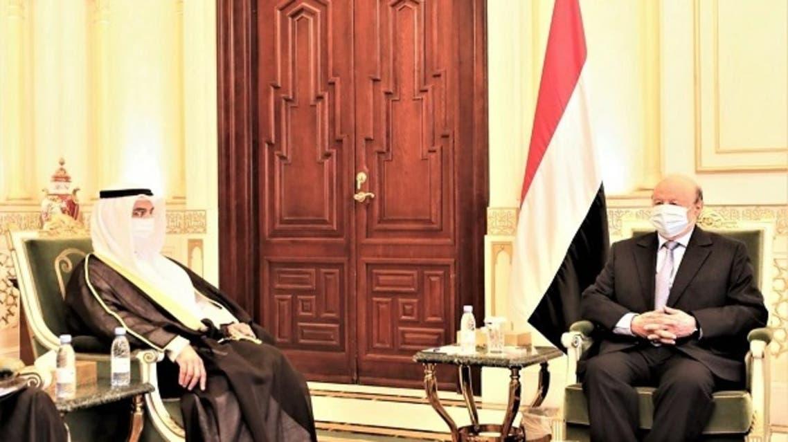 الرئيس اليمني مع امين عام مجلس التعاون