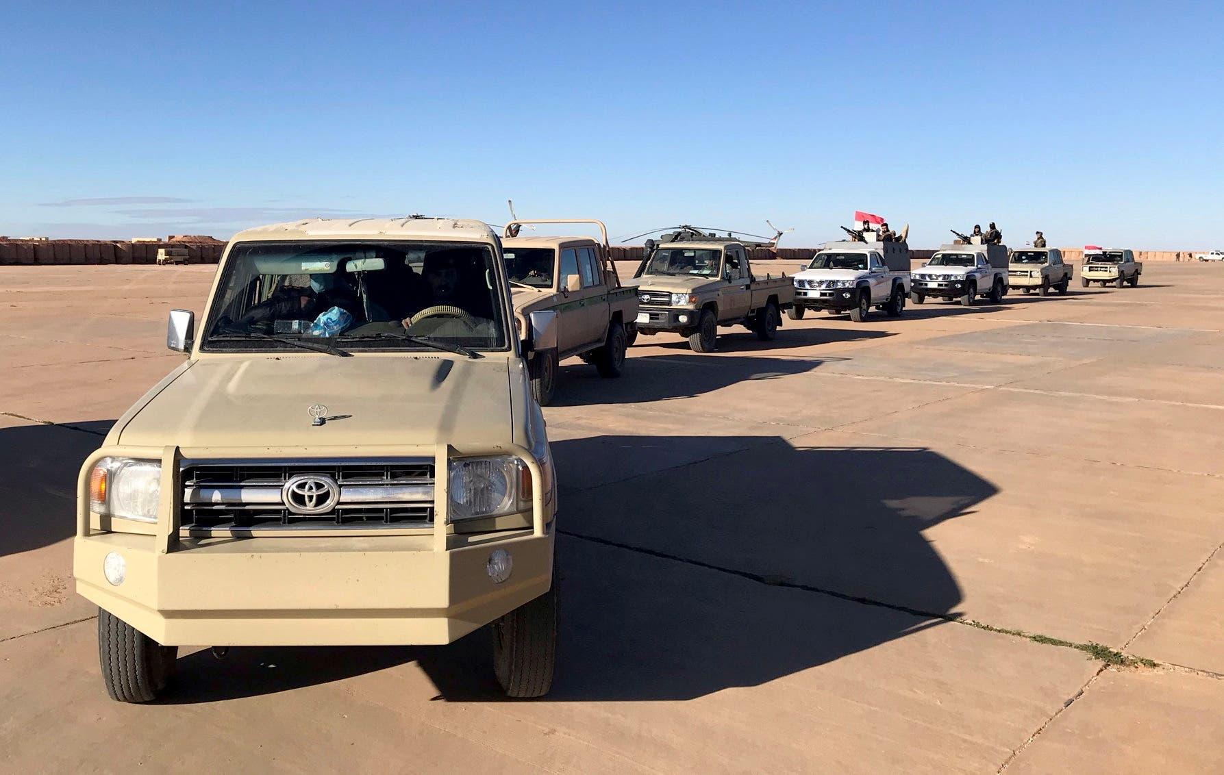 دورية عسكرية عراقية في التنف الحدودية مع سوريا