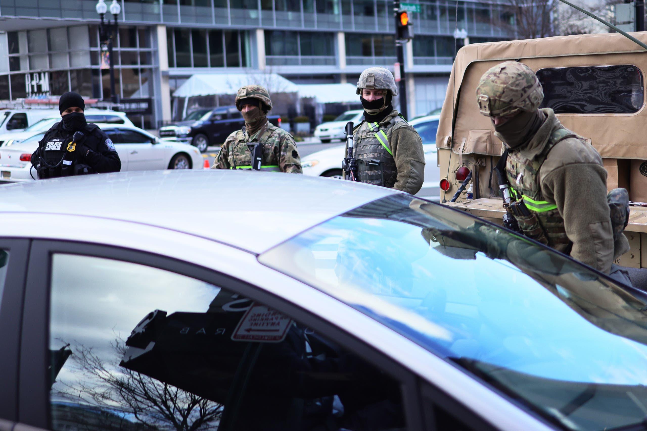 الحرس الوطني في واشنطن يوم 18 يناير