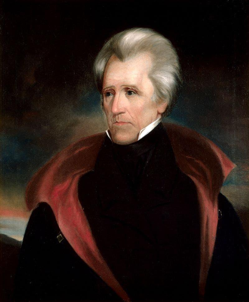 لوحة تجسد الرئيس أندرو جاكسون