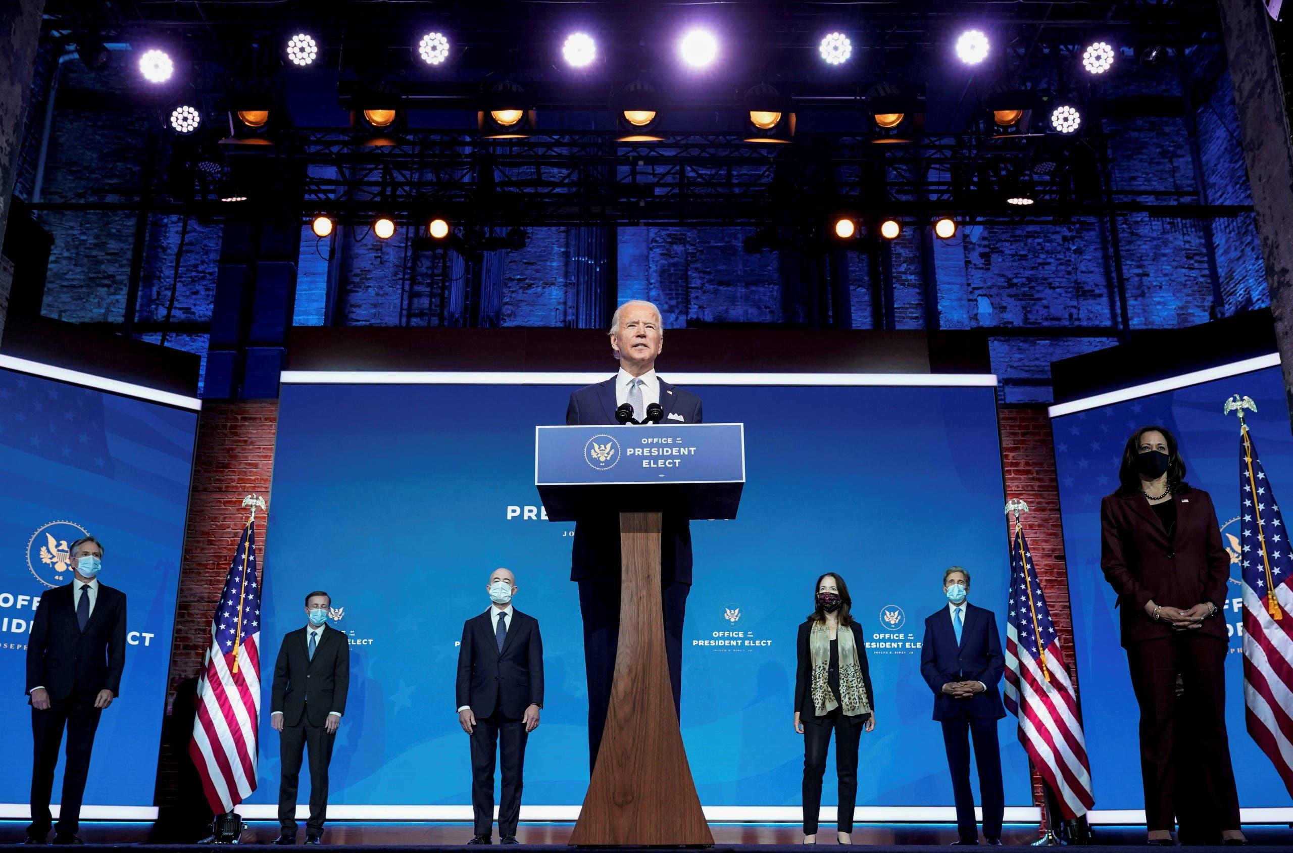 الرئيس الأميركي المنتخب يعلن عن فريقه للسياسة الخارجية في 24 نوفمبر الماضي