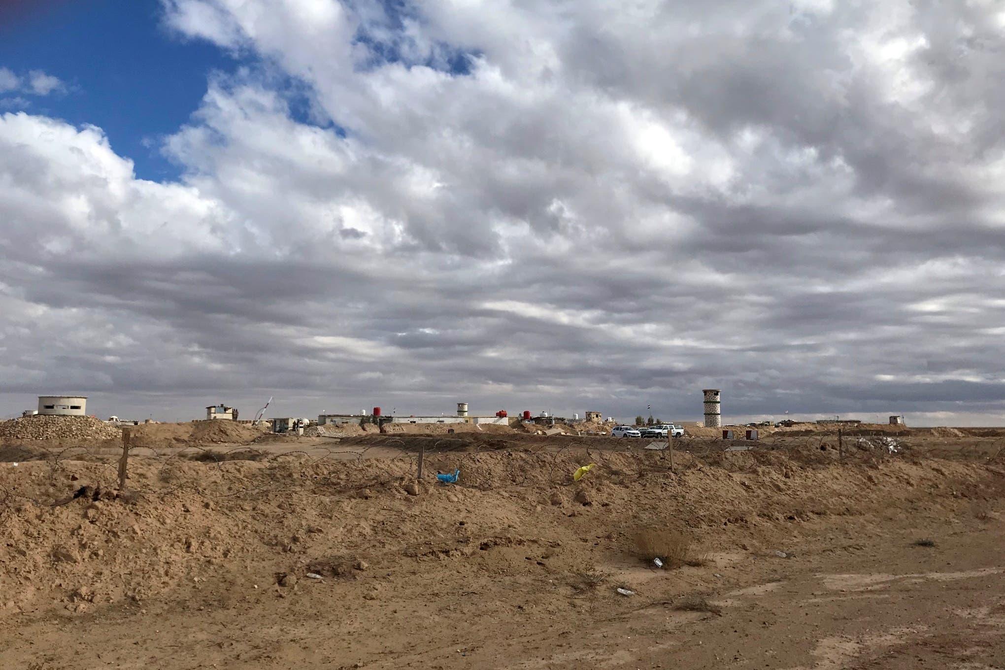 جانب من الحدود العراقية السورية