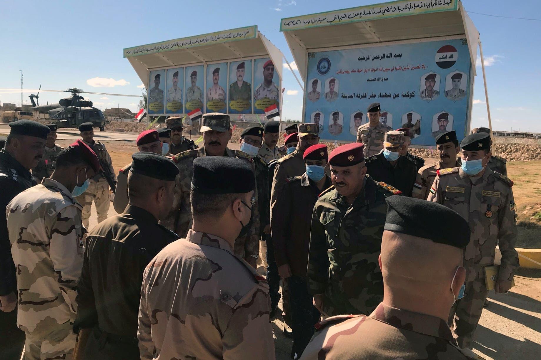 الفريق الركن عبد الأمير الشمري على الحدود العراقية السورية