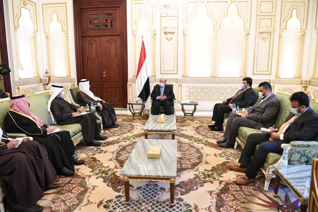 من اجتماع رئيس اليمن وأمين مجلس التعاون