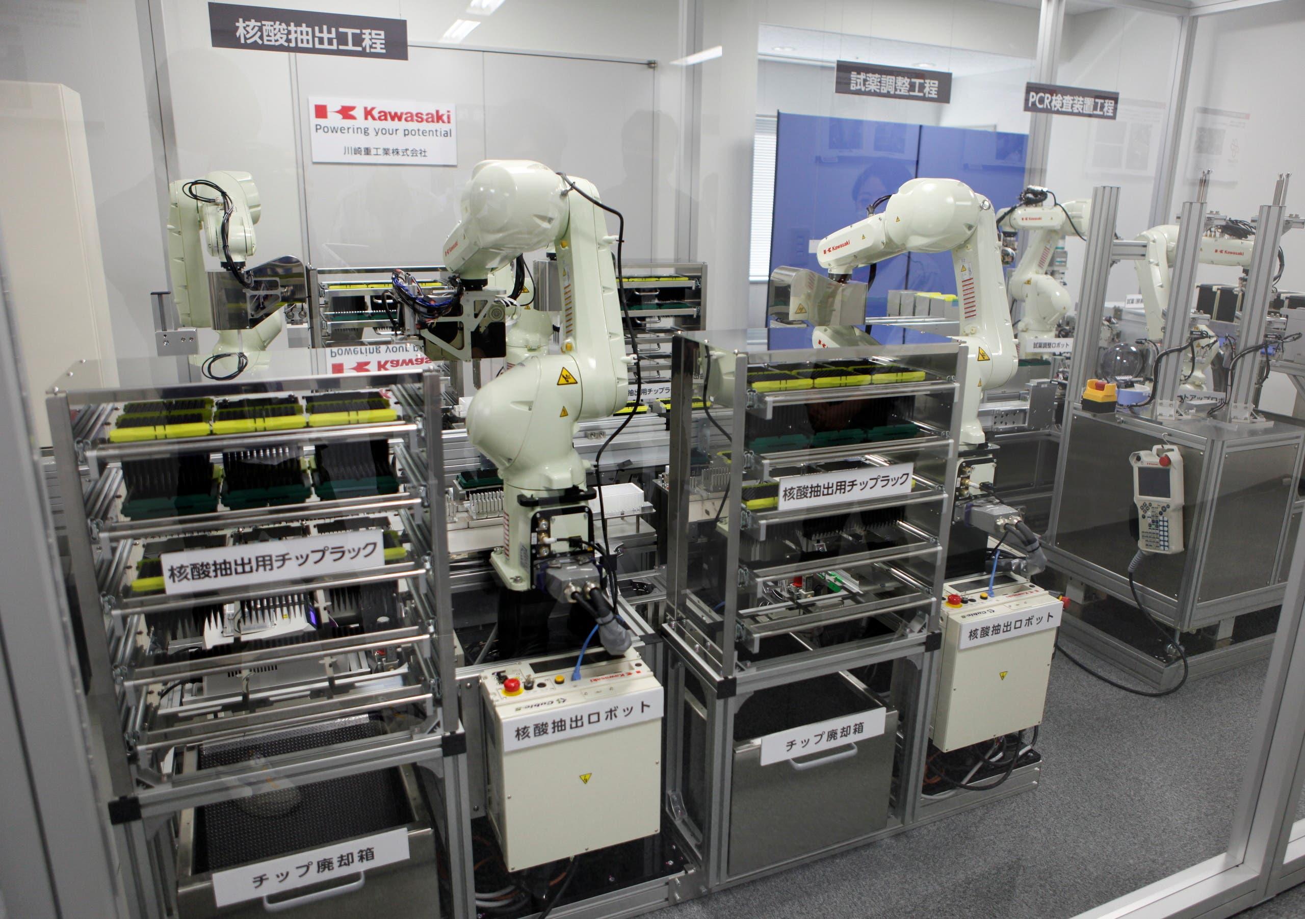 من المختبر حيث يتم تطوير هذه الروبوتات