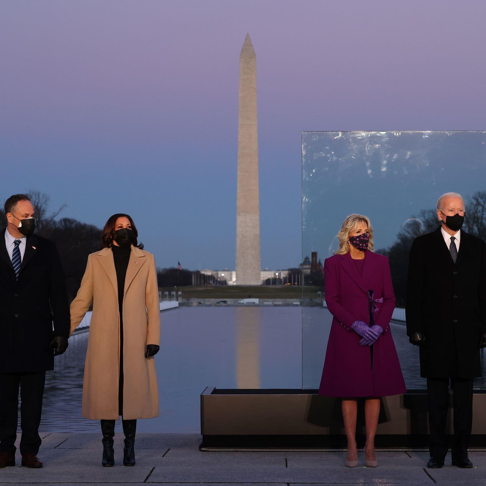 فور وصوله واشنطن.. بايدن يحيي ذكرى ضحايا كورونا الـ400 ألف